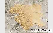 Satellite Map of Kordestan, semi-desaturated