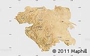 Satellite Map of Kordestan, single color outside