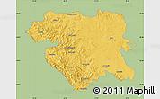 Savanna Style Map of Kordestan, single color outside
