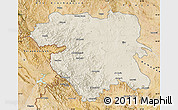 Shaded Relief Map of Kordestan, satellite outside