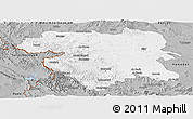 Gray Panoramic Map of Kordestan