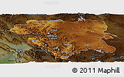 Physical Panoramic Map of Kordestan, darken