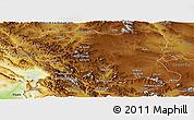 Physical Panoramic Map of Kordestan