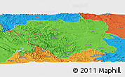 Political Panoramic Map of Kordestan