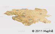 Satellite Panoramic Map of Kordestan, cropped outside