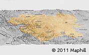 Satellite Panoramic Map of Kordestan, desaturated