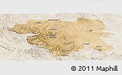 Satellite Panoramic Map of Kordestan, lighten