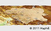 Satellite Panoramic Map of Kordestan, physical outside