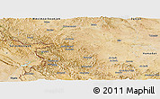 Satellite Panoramic Map of Kordestan