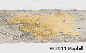 Satellite Panoramic Map of Kordestan, semi-desaturated