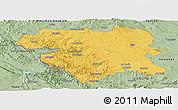 Savanna Style Panoramic Map of Kordestan