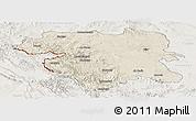 Shaded Relief Panoramic Map of Kordestan, lighten