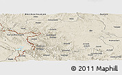 Shaded Relief Panoramic Map of Kordestan
