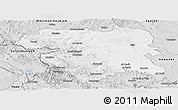 Silver Style Panoramic Map of Kordestan