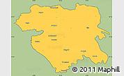 Savanna Style Simple Map of Kordestan, cropped outside