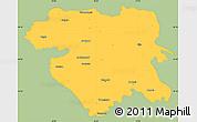 Savanna Style Simple Map of Kordestan, single color outside