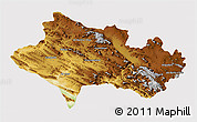 Physical 3D Map of Lorestan, cropped outside