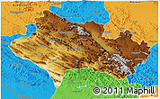 Physical 3D Map of Lorestan, political outside