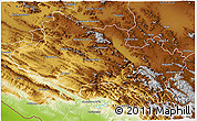 Physical 3D Map of Lorestan