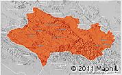 Political 3D Map of Lorestan, lighten, desaturated