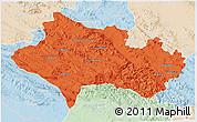 Political 3D Map of Lorestan, lighten