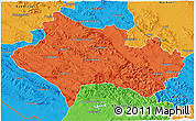Political 3D Map of Lorestan