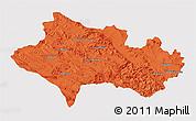 Political 3D Map of Lorestan, single color outside