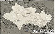 Shaded Relief 3D Map of Lorestan, darken