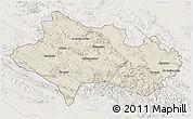 Shaded Relief 3D Map of Lorestan, lighten