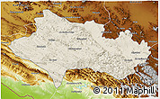 Shaded Relief 3D Map of Lorestan, physical outside