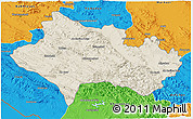 Shaded Relief 3D Map of Lorestan, political outside