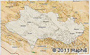 Shaded Relief 3D Map of Lorestan, satellite outside