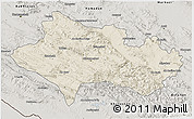 Shaded Relief 3D Map of Lorestan, semi-desaturated