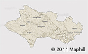 Shaded Relief 3D Map of Lorestan, single color outside