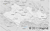 Silver Style 3D Map of Lorestan