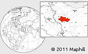 Blank Location Map of Lorestan