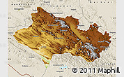 Physical Map of Lorestan, shaded relief outside