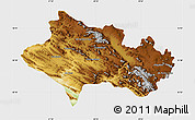 Physical Map of Lorestan, single color outside