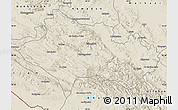 Shaded Relief Map of Lorestan