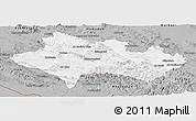 Gray Panoramic Map of Lorestan