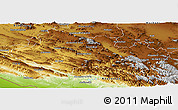 Physical Panoramic Map of Lorestan
