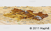 Physical Panoramic Map of Lorestan, satellite outside