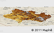 Physical Panoramic Map of Lorestan, shaded relief outside