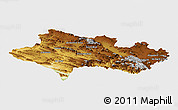 Physical Panoramic Map of Lorestan, single color outside