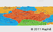 Political Panoramic Map of Lorestan