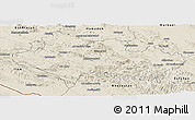 Shaded Relief Panoramic Map of Lorestan
