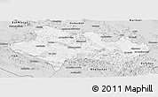 Silver Style Panoramic Map of Lorestan