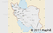 Classic Style Map of Iran, single color outside