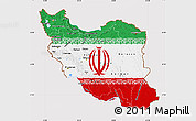 Flag Map of Iran