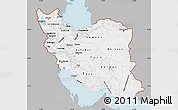 Gray Map of Iran, single color outside